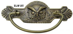 "Owl Head Lost Wax Cast Handle Set 3"" Boring (ZLW-277)"