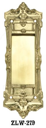 Victorian Recreated Square Pocket Door Handle (ZLW-279)