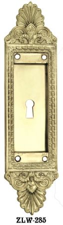 "Recreated Sargent ""Bulls Pattern"" Pocket Door Handle With Keyhole (ZLW-285)"