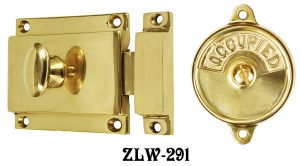 Circa 1900 Occupied/Open Bathroom Surface Privacy Latch - Choice Of Finish (ZLW-291)