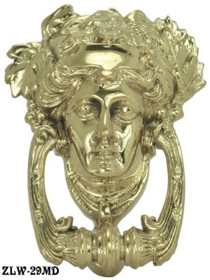 Antique Recreated Roman Female Brass Doorknocker (ZLW-29MD)
