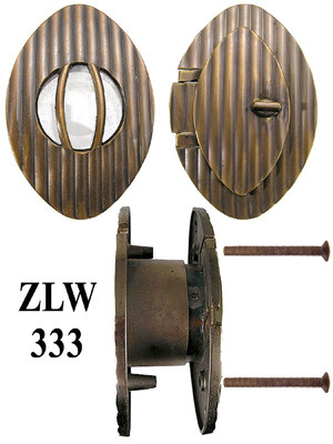 Decorative Deco or Arts and Crafts  Door Oval Door Security Viewer or Peephole (ZLW-333)