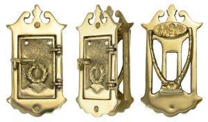 Small Provincial-Style Door Viewer or Speakeasy with Door Knocker (ZLW-336)