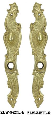 Victorian-French-10-Inch-Tall-Door-Plate-with-Turnlatch---Right-Hand-(ZLW-342TL-R)