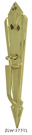 Art-Deco-Entry-Interior-Door-Plate-With-Thumblatch-(ZLW-375TL)