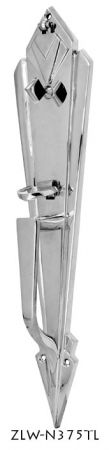 Art Deco Entry Interior Door Plate With Thumblatch (ZLW-375TL)