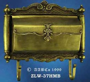 Antique Large Horizontal Brass Mail Box (ZLW-37HMB)