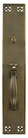 "Arts & Crafts Interior Entry Thumblatch Turnlatch Door Plate 19 1/2"" Tall (ZLW-380TL)"