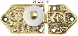 Victorian Small Latch with Porcelain Knob (ZLW-401P)