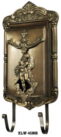 Victorian Angel/Cupid Motif Mail Box (ZLW-40MB)