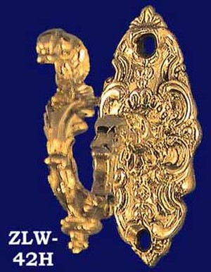 Antique Recreated Small Ornate Rococo Robe Hook (ZLW-42H)
