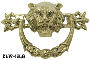 Lion Head Lost Wax Cast Handle 3