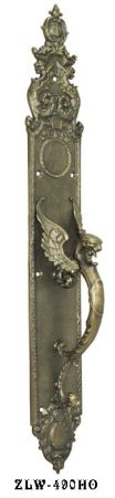 Victorian Griffin Or Dragon Handle Only Door Plate 23