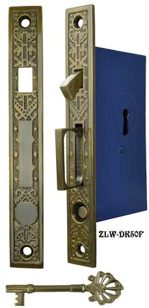 Single Pocket Door Mortise Lock Set (ZLW-50F)
