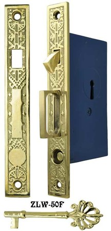 Single-Pocket-Door-Mortise-Lock-Set-(ZLW-50F)