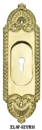 Recessed Pocket Door Handle With Keyhole (ZLW-52VRH)