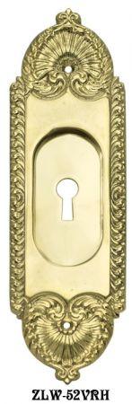 Recessed Pocket Door Handle With Keyhole Zlw 52vrh