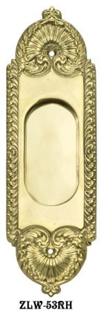 Victorian Recessed Pocket Door Handle No Keyhole (ZLW-53RH)