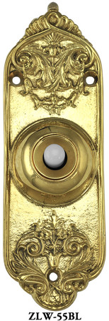 Victorian Recreated Electric Pushbutton Doorbell (ZLW-55BL)