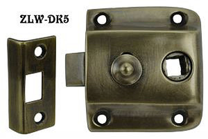 "Recreated Locking Screen Door Latch Set 1 1/2"" Backset (ZLW-5)"