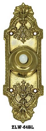 Recreated Victorian Fan & Scroll Doorbell Push (ZLW-64BL)
