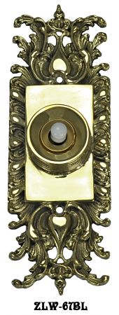 Ornate Victorian Rococo Doorbell Push Button (ZLW-67BL)