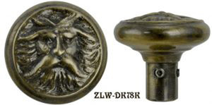 Victorian North Wind Screen Door Knob (ZLW-78K)