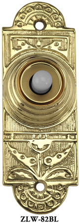 Victorian Aesthetic Pushbutton Doorbell (ZLW-82BL)