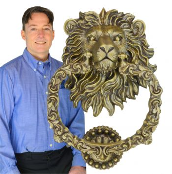 Monster Castle Lion Door Knocker (ZLW-913)
