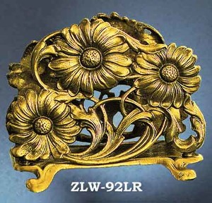 Letter or Napkin Holder Sunflower Motif (ZLW-92LR)