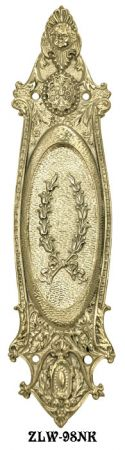 Ornate Recreated Victorian Pocket Door Handle (ZLW-98NK)