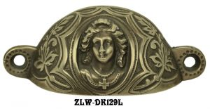 "Victorian Lady Large Bin Pull 3 3/8"" Boring (ZLW-129L)"