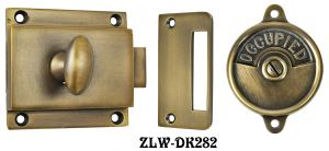 Occupied/Open-Privacy-Latch-Set-with-Rim-Catch-Circa-1900-(ZLW-282)