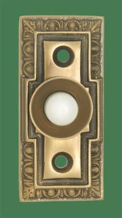 "Small Classic Victorian Doorbell Antique Finish 1 1/8"" Wide (ZLW-DK37BL)"