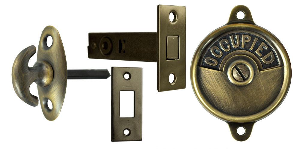 Bathroom Turn Release Toilet Door Set Oval Thumbturn Security Privacy Lock