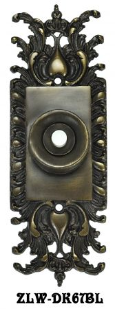 Ornate-Victorian-Rococo-Doorbell-Push-Button-(ZLW-67BL)