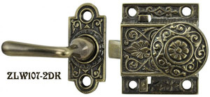 "Recreated Locking Victorian Screen Door Set 1.5"" Backset (ZLW107-2X)"