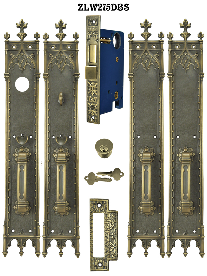 Victorian Amiens Gothic Double French Entry Door Set 22 3 4