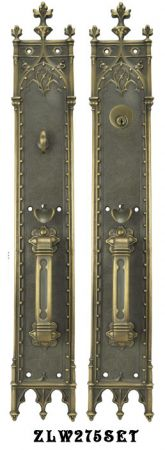 "Victorian Amiens Gothic Locking Mortise Entry Door Set 22 3/4"" Tall (ZLW275SET)"