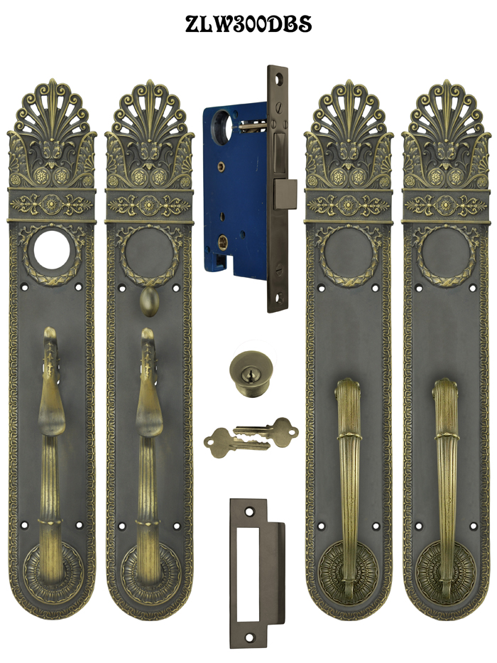 Art Nouveau Pierced Entry Double Or French Door Set