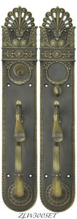Art Nouveau Pierced Yale Entry Exterior Door Set Locking Mortise (ZLW300SET)