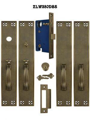 Arts & Crafts Double or French Door Entry Set with Locking Mortise (ZLW380DBS)