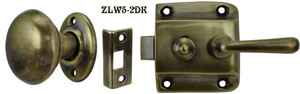 Screen Door Knob to Lever Latch Set (ZLW5-2)