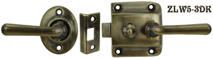 Screen Door Lever to Lever Latch Set (ZLW5-3)