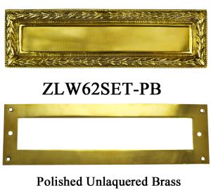 Victorian Style Letter or Mail Slot Set with Ribbon and Wreath Pattern (ZLW62SET)
