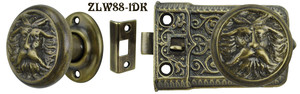Ornate Screen Door Knob to Knob Latch Set (ZLW88-1)