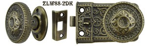 Ornate Screen Door Knob to Knob Latch Set (ZLW88-2)