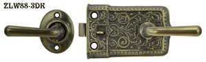 Ornate Screen Door Lever to Lever Latch Set(ZLW88-3)