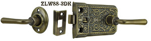 Ornate-Screen-Door-Lever-to-Lever-Latch-Set(ZLW88-3)