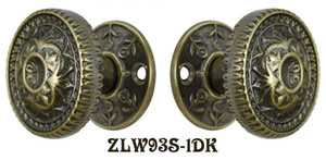 Ornate Screen Door Knob Latch Set (ZLW93S-1)